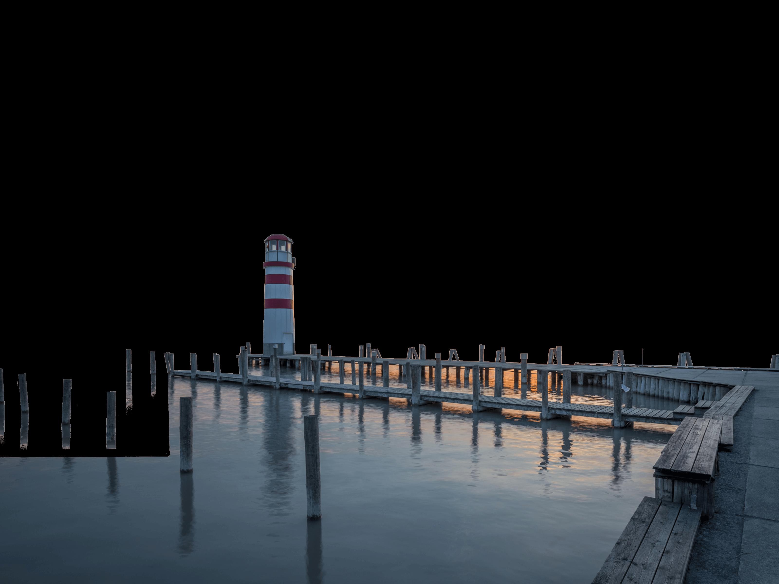 Neusiedlersee mit Leuchtturm