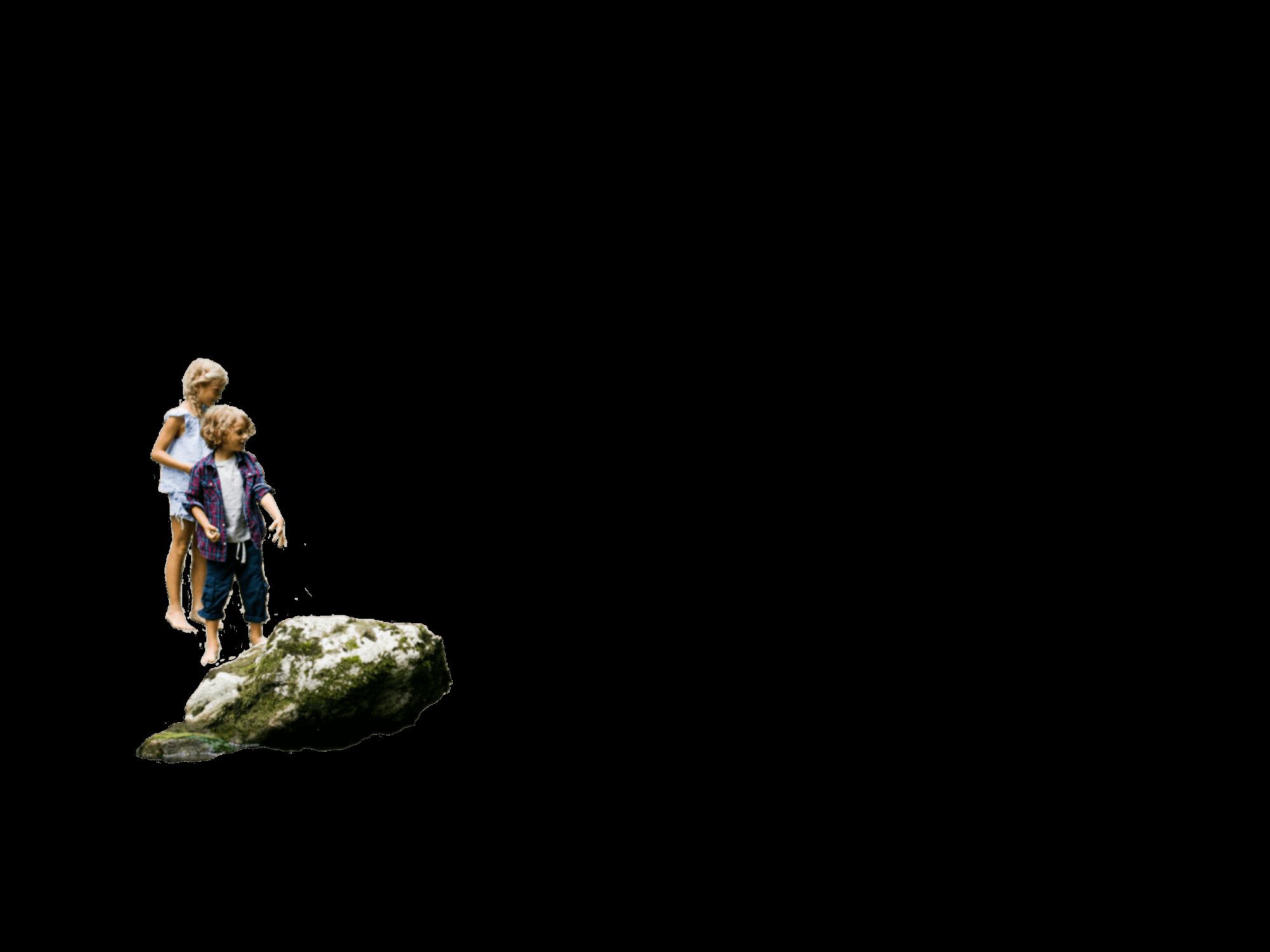 Spielen am Fluss