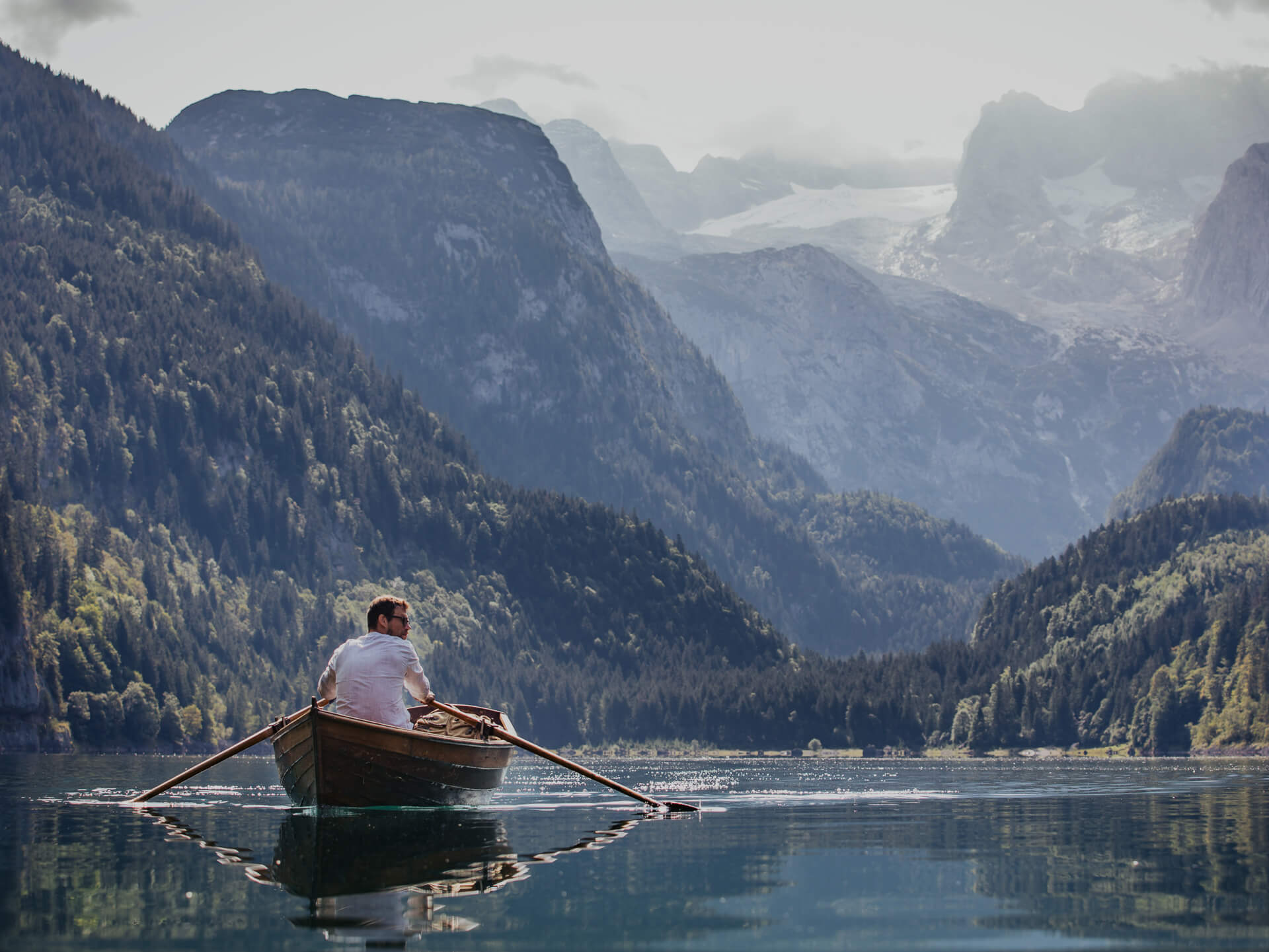 Kanufahren am Bergsee
