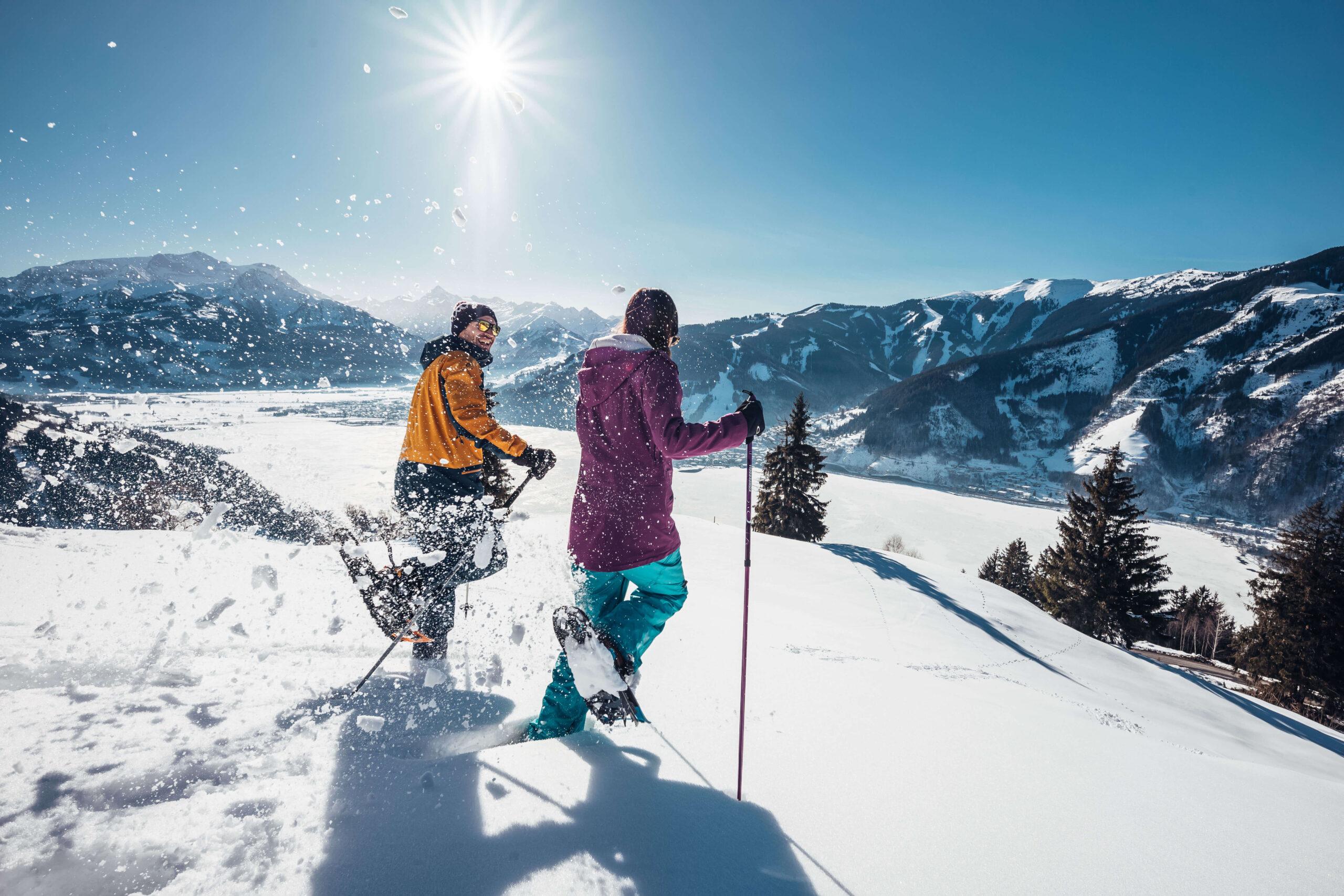 Schneeschuhwanderer in Thumersbach