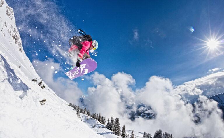 Snowboarder in Saalbach Hinterglemm