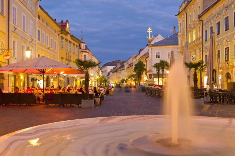 Springbrunnen in Klagenfurt