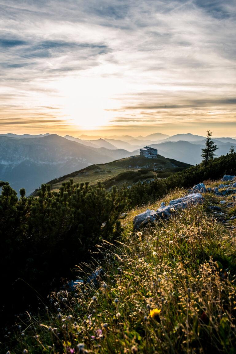 Sonnenuntergang Wiener Alpen
