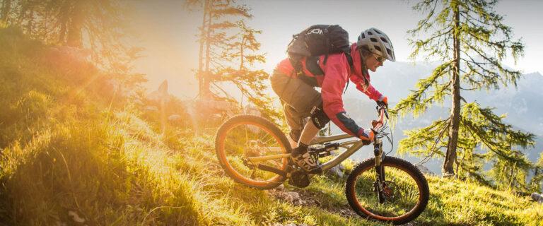 Mountainbiker in Forstau