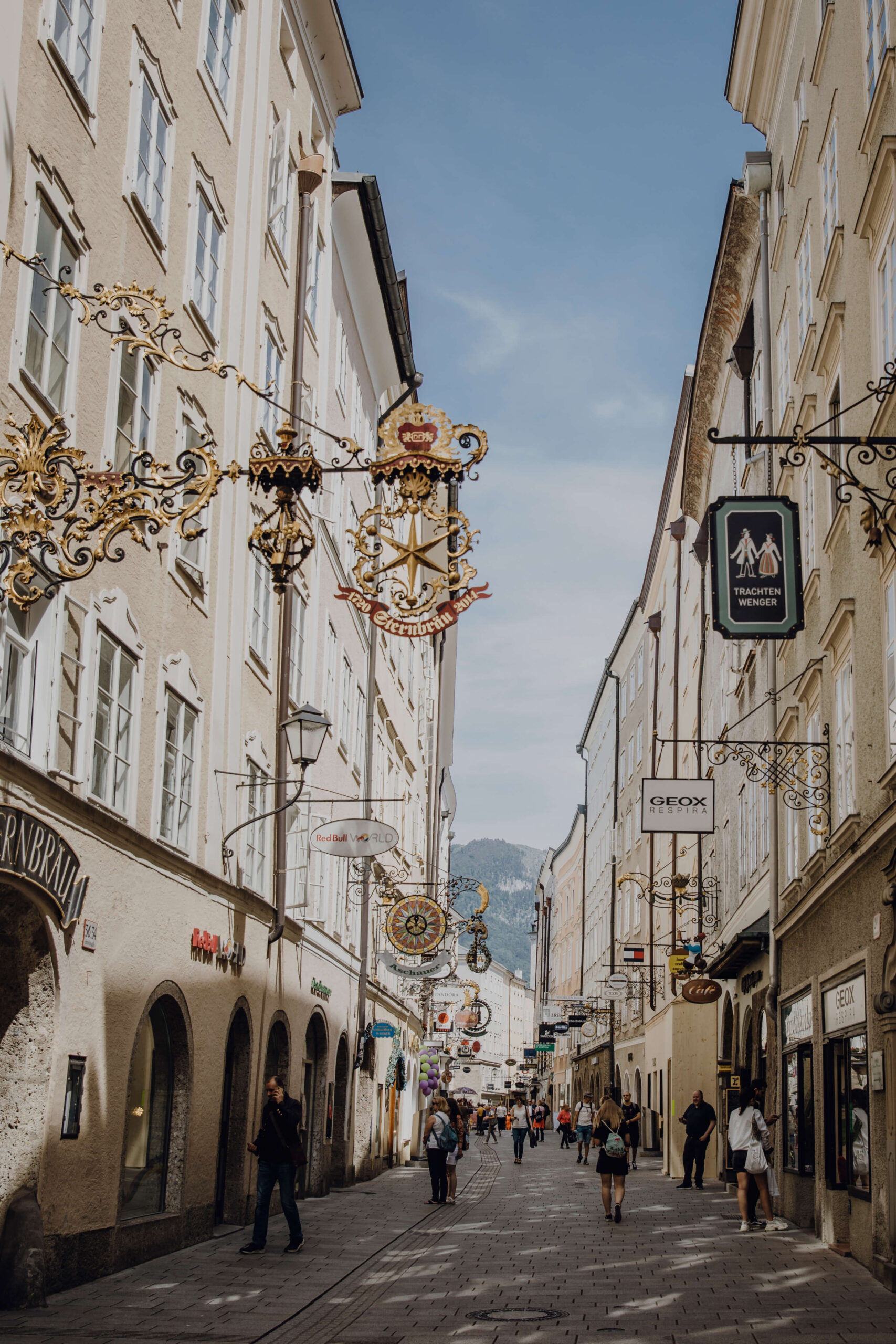 Getreidegasse in der Stadt Salzburg