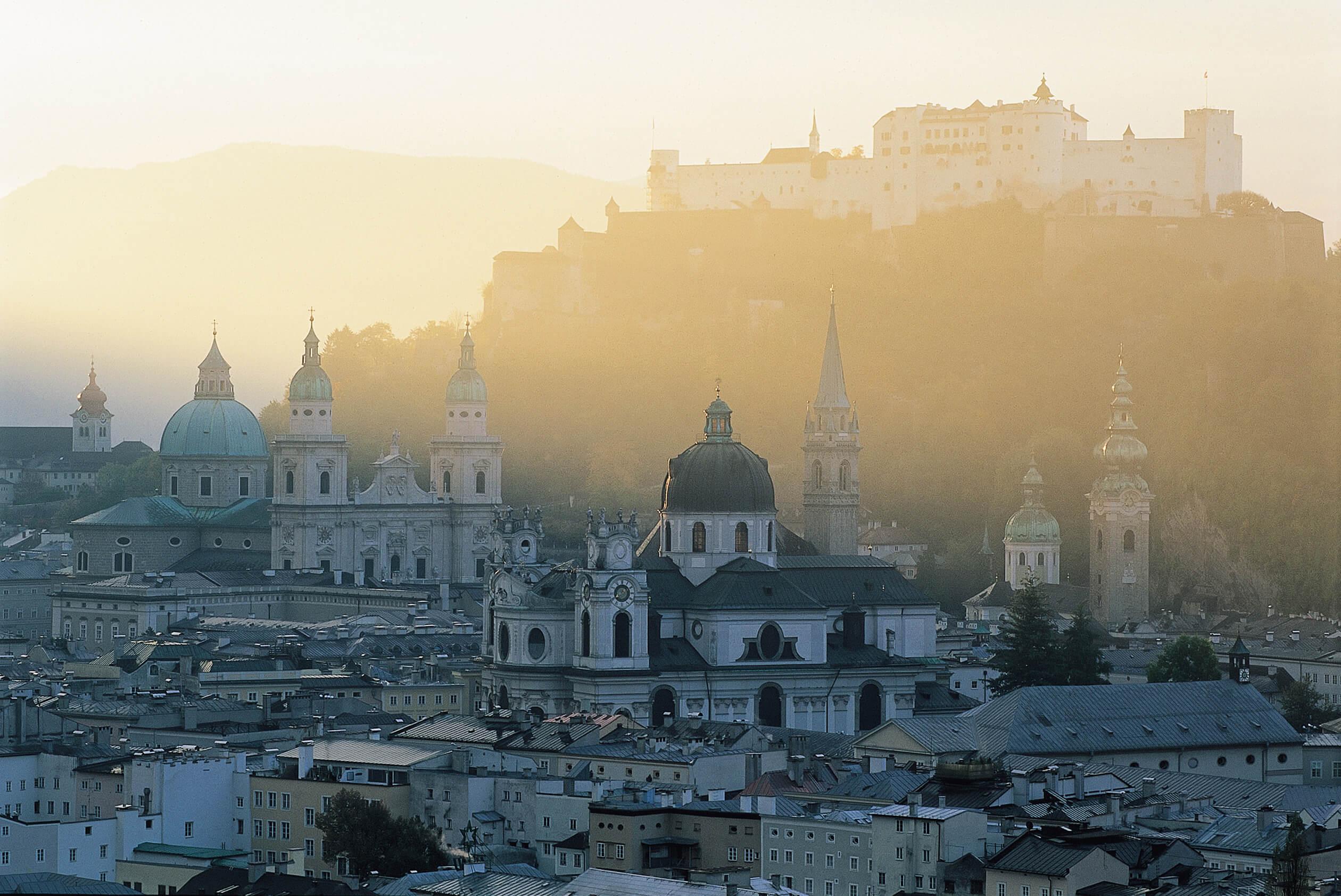 Blick auf die Festung Hohen Salzburg