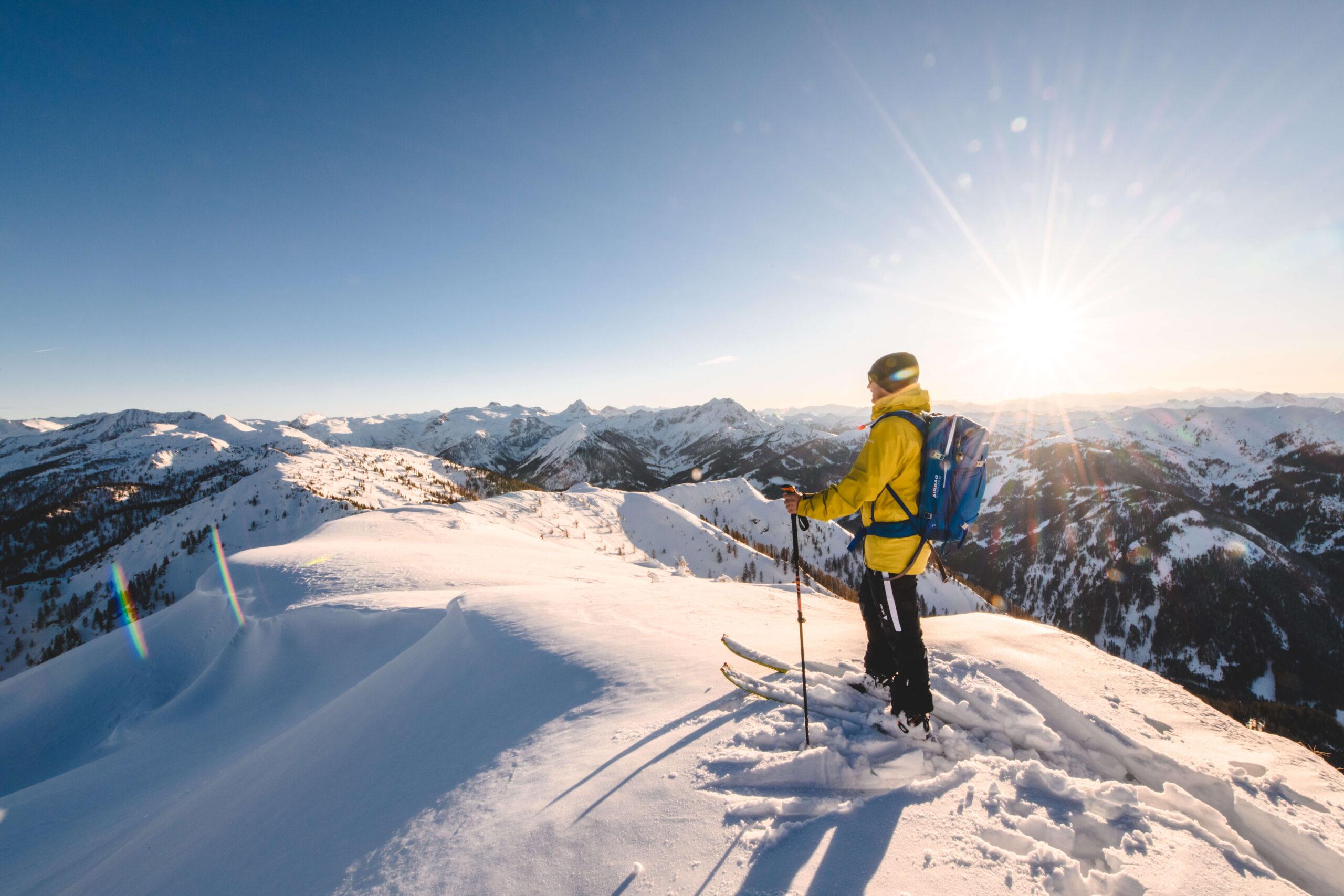 Skitourengeher in der Salzburger Sportwelt