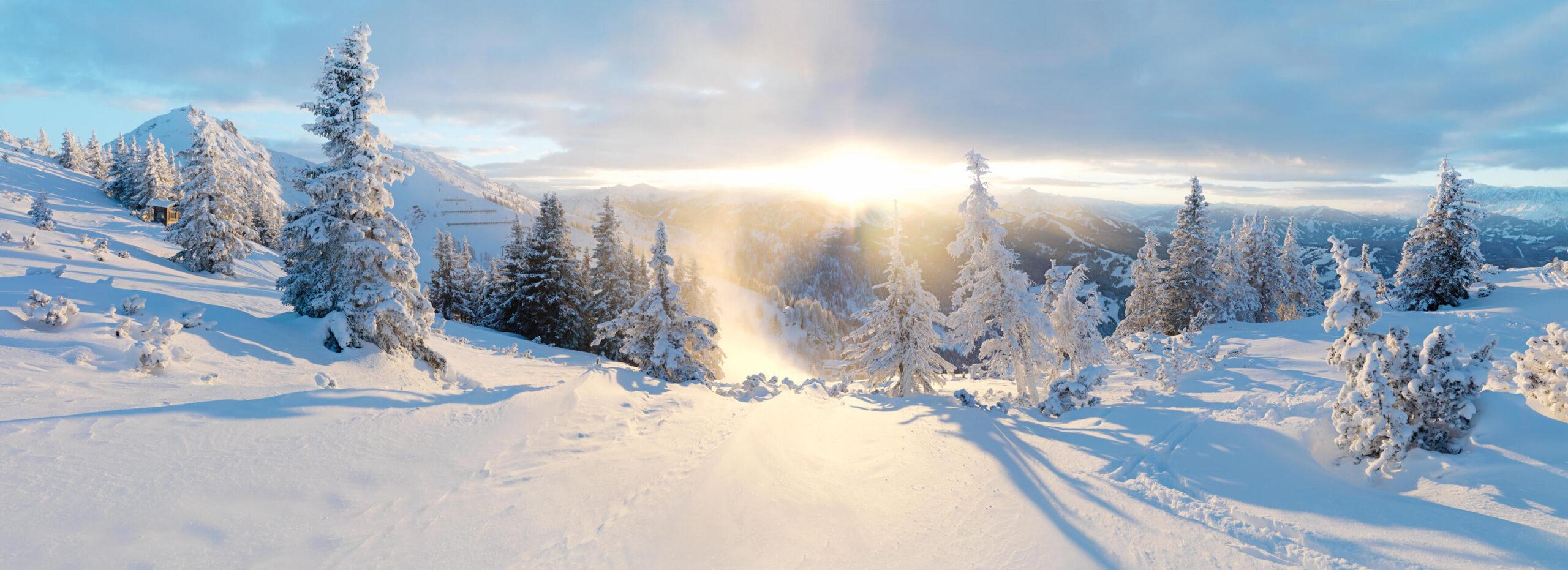 Winterlandschaft in der Salzburger Sportwelt