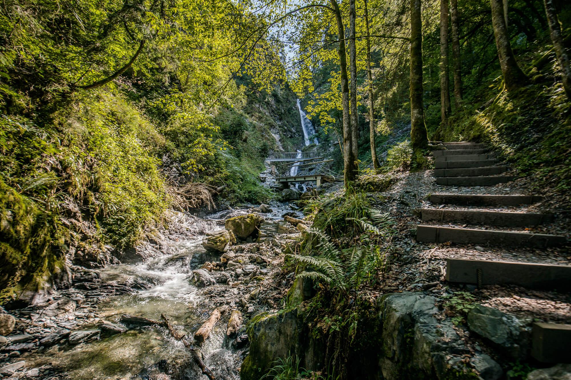 Idylle am Eifersbacher Wasserfall